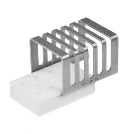 Caseta pentru 10 freze chirurgicale, inaltime de 25 mm, Stoma