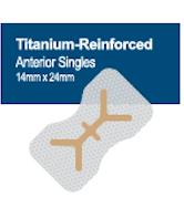 Membrană din PTFE ranforsată cu titan 14 x 24 mm, Anterior