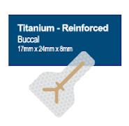 Membrană din PTFE ranforsată cu titan 17 x 24 mm, Anterior