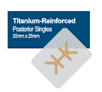 Membrană din PTFE ranforsată cu titan 20 x 25 mm, Posterior