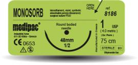 Fire de sutură monosorb - polidioxanonă, 24 fire/cutie